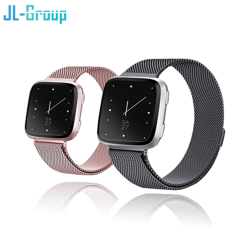 Metal Fitbit Versa Band For Fitbit Versa Strap Magnetic Fit Bit Lite Verse 2 Bracelet Stainless Steel Watch Strap Accessories
