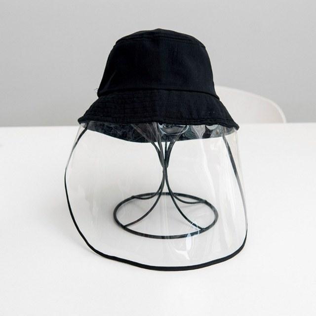 Kids Dustproof Anti Spitting Protective Mask Visor Hat Face Shield Fisherman Outdoor windproof dustproof insectproof sun Cap 4