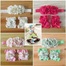 Детская повязка на голову; детская жемчужная резинка для волос с цветами; сандалии для маленьких девочек и повязка на голову; комплекты обуви; аксессуары для волос для девочек