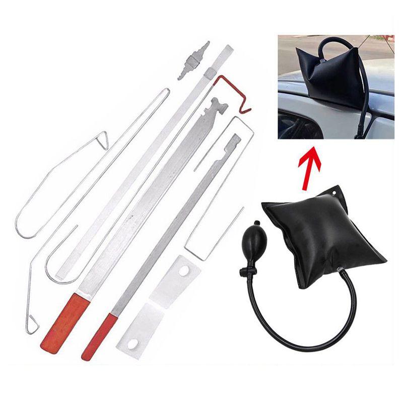 Car Door Lock Out Emergency Open Unlock Key Tools Kit   Black Air Pump Universal
