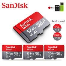 SanDisk-tarjeta de memoria 256GB, Microsd Clase 10, 32GB, 16GB, 200GB, 128GB, 64GB, 98 MB/S