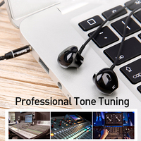 Baseus 6D Stereo In-ear Earphone Headphones Wired Control Bass Sound Earbuds for 3.5mm Earphones