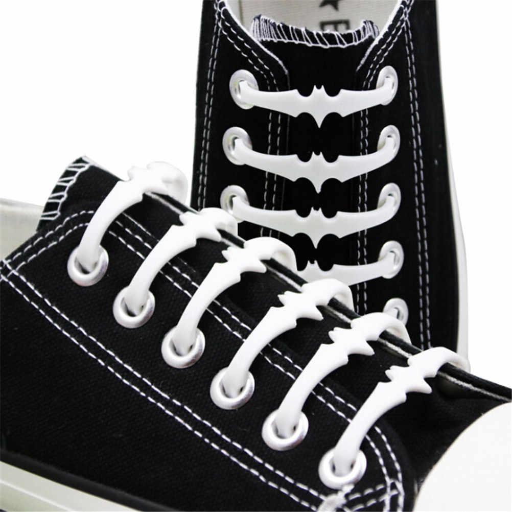 ¡16 Uds. 6 Cm sin cordones de murciélago Cordones elásticos de silicona para zapatos sin cordones zapatillas con cordones para niños y adultos al por mayor!