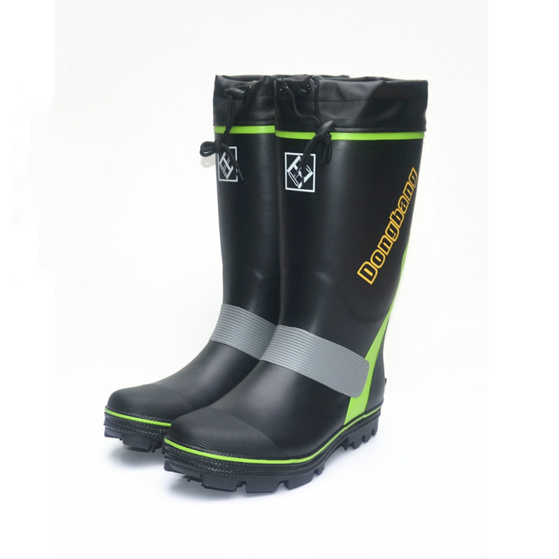 Men's Steel Nail-soled Rainboots Rubber Fishing Boots Anti-skid Gumboots Fashionable Snowshoes Rubber Shoes