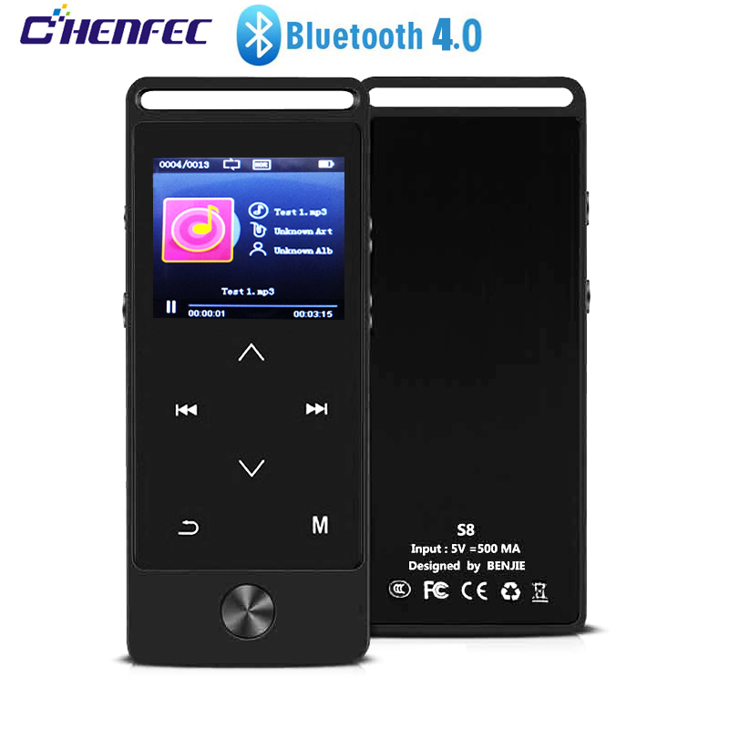 Portable Mini MP3 Player With Bluetooth4.0 HiFi Lossless Music Player With FM Radio, Recorder, Expandable SD Card Up To 128GB