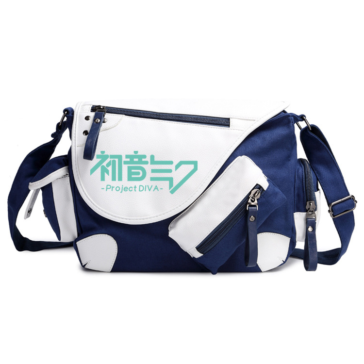 Fashion Shoulder Bag Anime Hatsune Miku Crossbody Canvas Bags Unisex School Bag Student Casual Messenger Bag Travel Handbag