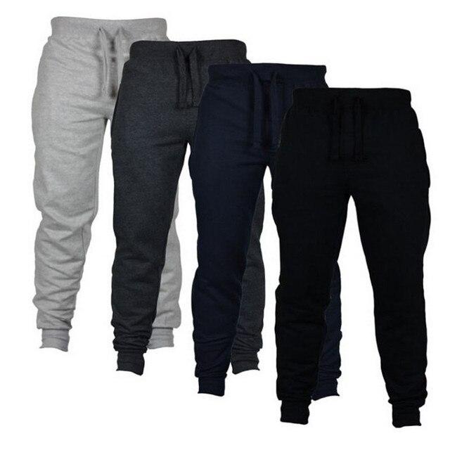 Jogging Casual Hombre Pantalones de aptitud de los hombres ropa deportiva pantalones de chándal ajustados pantalones de chándal Pantalones negro gimnasios Jogger Pantalones 1