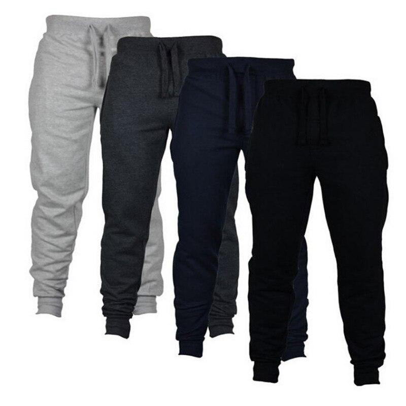 Для мужчин s повседневные брюки для пробежек Фитнес Для мужчин спортивная одежда спортивные штаны, облегающие штаны для бега Штаны черного ...