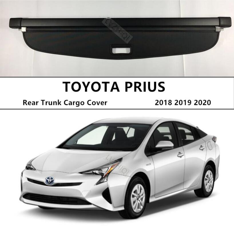 For Rear Trunk Cargo Cover For TOYOTA PRIUS 2018 2019 2020 High Qualit Security Shield Black Beige Auto Accessories|Chromium Styling| |  - title=