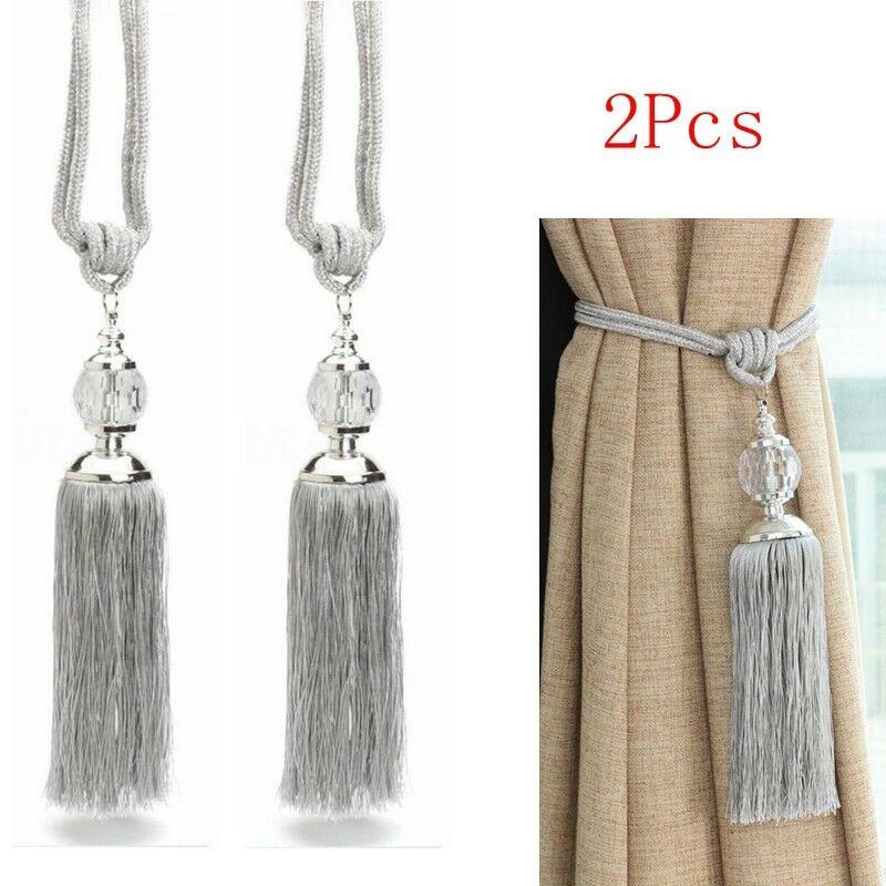 Curtain Holdbacks Rope Tie Backs Tassel Tiebacks Living Room Bedroom Decorate