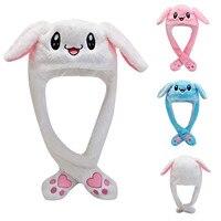 Influencer Kaninchen Ohr Hut Niedlich Kappen Plüsch Stickerei Kaninchen Ohr Hut Geschenk für Kinder Mädchen Wrap Warm Hut Kappe Damen sombrero mujer