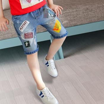 2019 Baby BOY'S Shorts Summer Jeans Big Boy Pure Cotton Thin Shorts Korean-style Casual Pants Shorts Fashion- 1