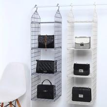 Home Ark Layered Receiving Rack Multi Layer Clothing Rack Dormitory Wardrobe Clothes Hanging Rack Saving Space Portable Storage