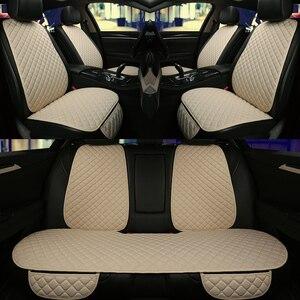 Image 1 - Conjunto de fundas de asiento de coche, ajuste Universal para la mayoría de los Protector de asiento de coche, con respaldo, alfombrilla de cojín de línea de automóvil para Auto camión, 5 asientos