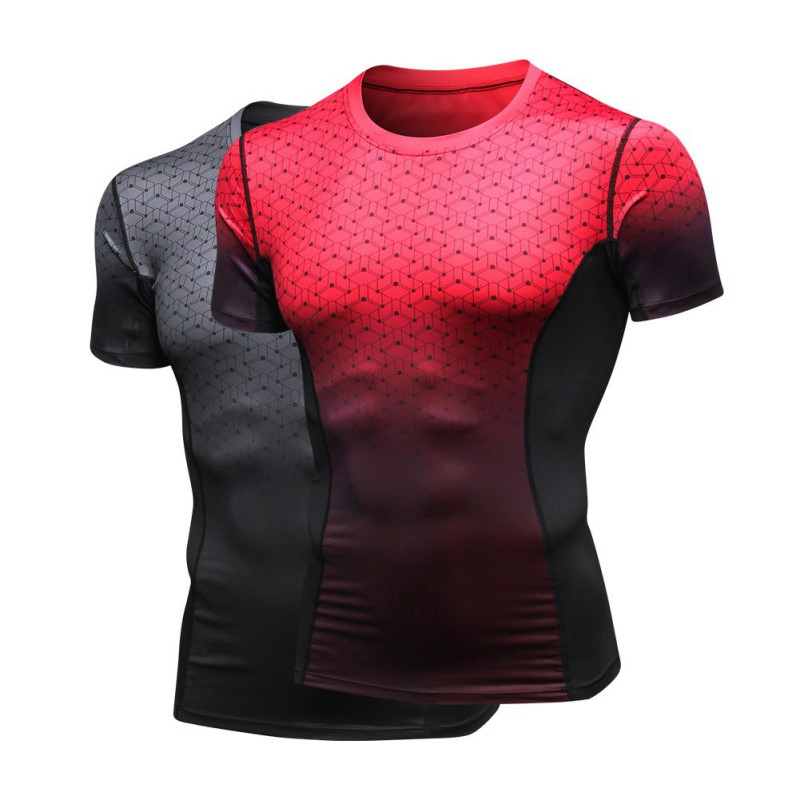 Tees Tops T-Shirts Fitness Quick-Dry Sport Running Men Muscle-Tee Slim-Fit's Designer