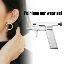 1 Set Ear Nose Body Navel Piercing Gun With Ears Studs Tools Disposable Sterile Ear Piercing Tool Kit with 72 pcs Ear Studs Jewe