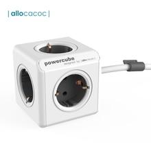 Allocacoc PowerCube Extended Socket Power Strip Multi Thiefปลั๊กต่อไฟฟ้าสายไฟ 5 Tee Outlet 16A/250Vสาย 1.5M