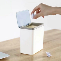 Home Waste Bin Small Trash can Mini Desktop ashcan litter Trash little Table Top Trash Box for desk Car trash bin With Lid|Waste Bins| |  -