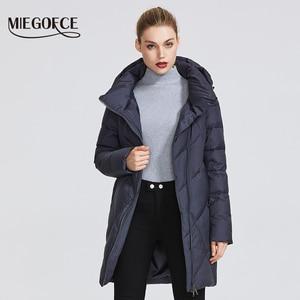 Image 2 - MIEGOFCE مجموعة شتاء 2019 للنساء معطف سترة دافئة للنساء عدة ألوان غير عادية منحنى سحاب يعطي نموذج نمط خاص