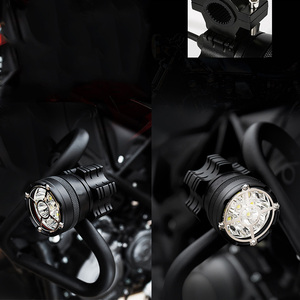 Image 5 - Led motorcycle headlight 6/9 beads moto led lamps For BMW R1200GS F800 F700GS Front Brackets motorbike Fog Passing Light