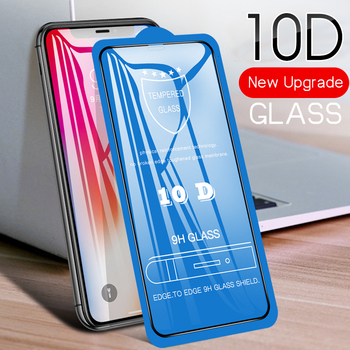 10D Full Coverage Tempered Glass For Apple iPhone 11 Pro Max XS XR X 8 7 6 6S Plus SE 5 5S Screen Protective Glass Film 100Pcs