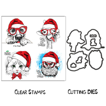ZhuoAng Merry Christmas Animals Clear Stamps For DIY Scrapbooking/Card Making/Album Decorative Silicon Stamp Crafts merry christmas trees sticker painting stencils for diy scrapbooking stamps home decor paper card template decoration album