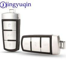 Jingyuqin escudo inteligente remoto chave do carro caso capa estilo para vw passat magotan 3 botões