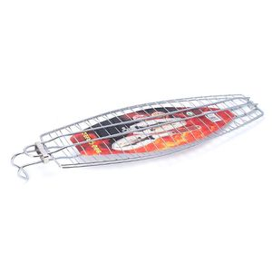 Churrasco grelhar cesta de carne de peixe clipe hangable grelhado peixe pasta churrasco piquenique ferramentas 425d