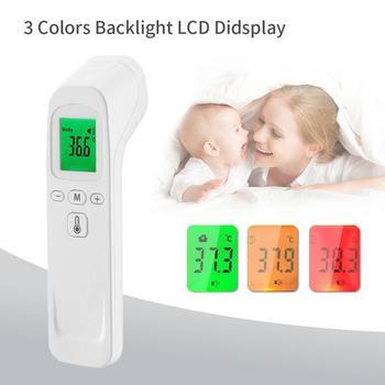 Nowy bezdotykowy termometr na podczerwień cyfrowy czoło ciało elektroniczny dziecko dorosły gorączka ucha pistolet termiczny tanie i dobre opinie OUTAD inny Thermometer TERMOMETRY 0-3 M 4-6 M 7-9 M 10-12 M 13-18 M 19-24 M 2-3Y 4-6y 7-9Y 10-12Y 13-14Y 14Y Babies Infrared Thermometer