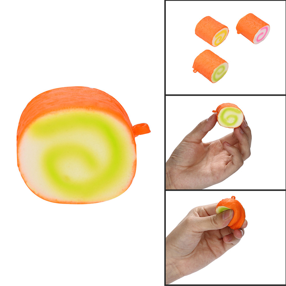 Squishies Cake Roll Scented Slow Rising Stress Reliever Toys Kids Toys Toys For Children Squishy Toys Juguetes De Descompresion