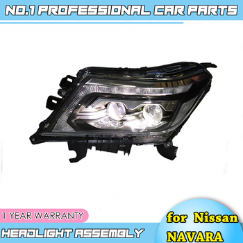 Car accessories Headlight For Nissan NAVARA headlights 2017 nissan NAVARA Head lamp All LED headlamp+Dynamic turning new