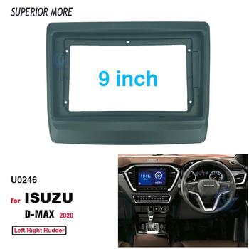 2 Din 9 Inch Car Radio Installation DVD GPS Mp5 Plastic Fascia Panel Frame for Isuzu D-max 2020+ Dash Mount Kit image