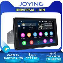 "8""Universal Android 8.1 Car Radio Stereo Single Din 4GB 64GB 1280*720 DSP 4G Modem Wireless Carplay Head Unit GPS No DVD Player"