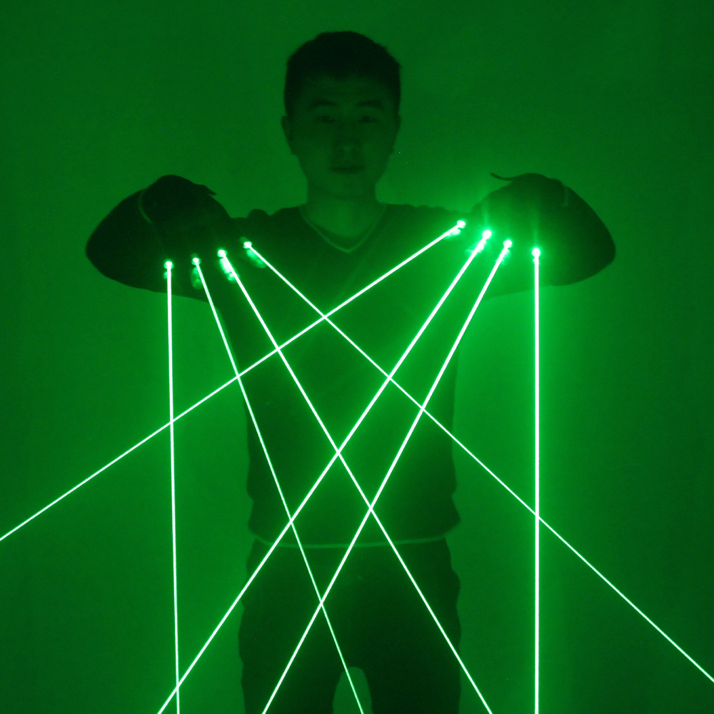 Green Laser Gloves 532nm LED Glasses High Power Coarse Beam Laser Cannon DJ Bar Party Performance Props