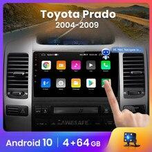 Awesafe px9 para toyota land cruiser prado 120 lexus gx470 rádio do carro reprodutor de vídeo multimídia navegação gps dvd android nenhum 2 din