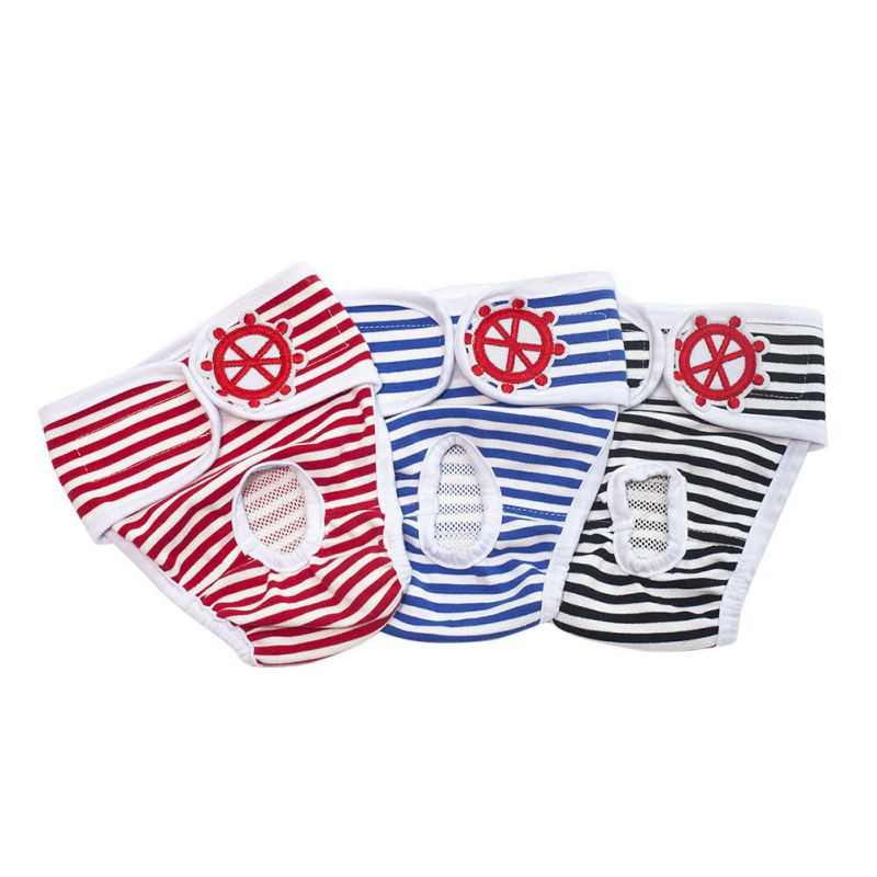 New <font><b>Dog</b></font> Physiological <font><b>Pants</b></font> S-XL Diaper Sanitary Washable <font><b>Female</b></font> <font><b>Dog</b></font> Shorts Panties Menstruation Underwear Briefs Jumpsuit image