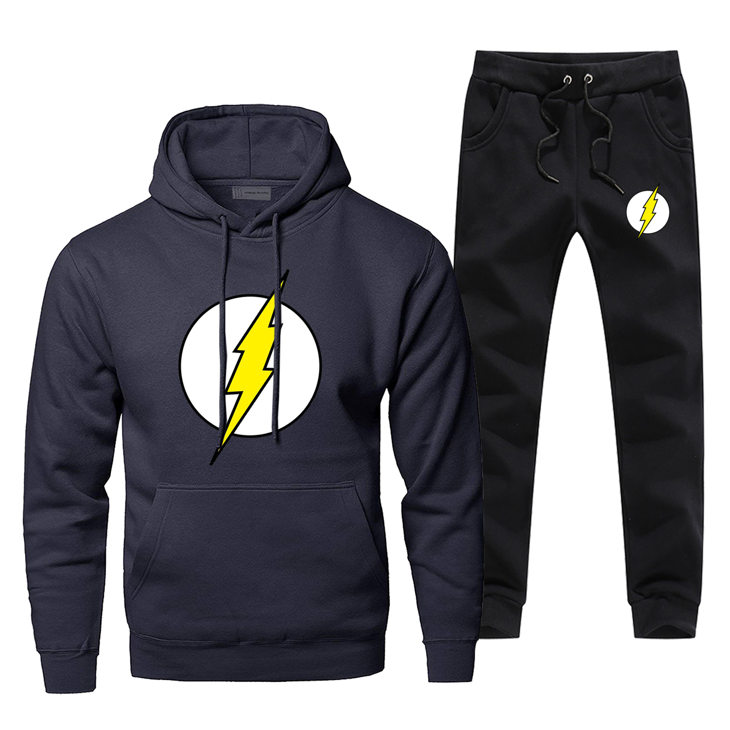 The Big Bang Sheldon Lee Cooper Men's Full Suit Tracksuit The Flash Cosplay Fashion Hoodies Winter Warm Complete Man Tracksuit
