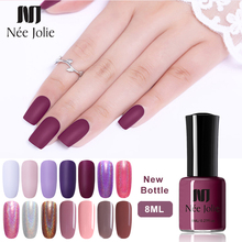 NEE JOLIE 8ml Nail Polish 36 Black White Gray Solid Colors 12 Matte 6 Shining Holographic Effect 3.5ml
