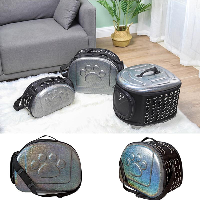 Сумка-переноска для домашних животных EVA, складной рюкзак на одно плечо, корзина, коробка для перевозки домашних животных, клетка для животн...