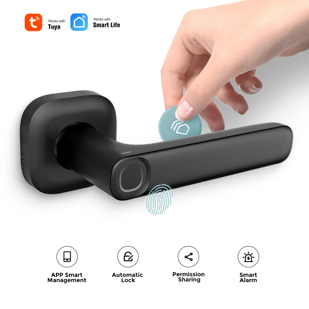Биометрический замок полупроводниковый замок отпечатков пальцев умный дверной замок электронный Pplit ручка замок Bluetooth разблокировка