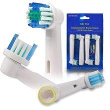 4/8/12/16/20/40/100 pçs oral b cabeças de substituição escova de dentes elétrica para braun escovas de dentes bicos limpeza dos dentes cuidados dentários