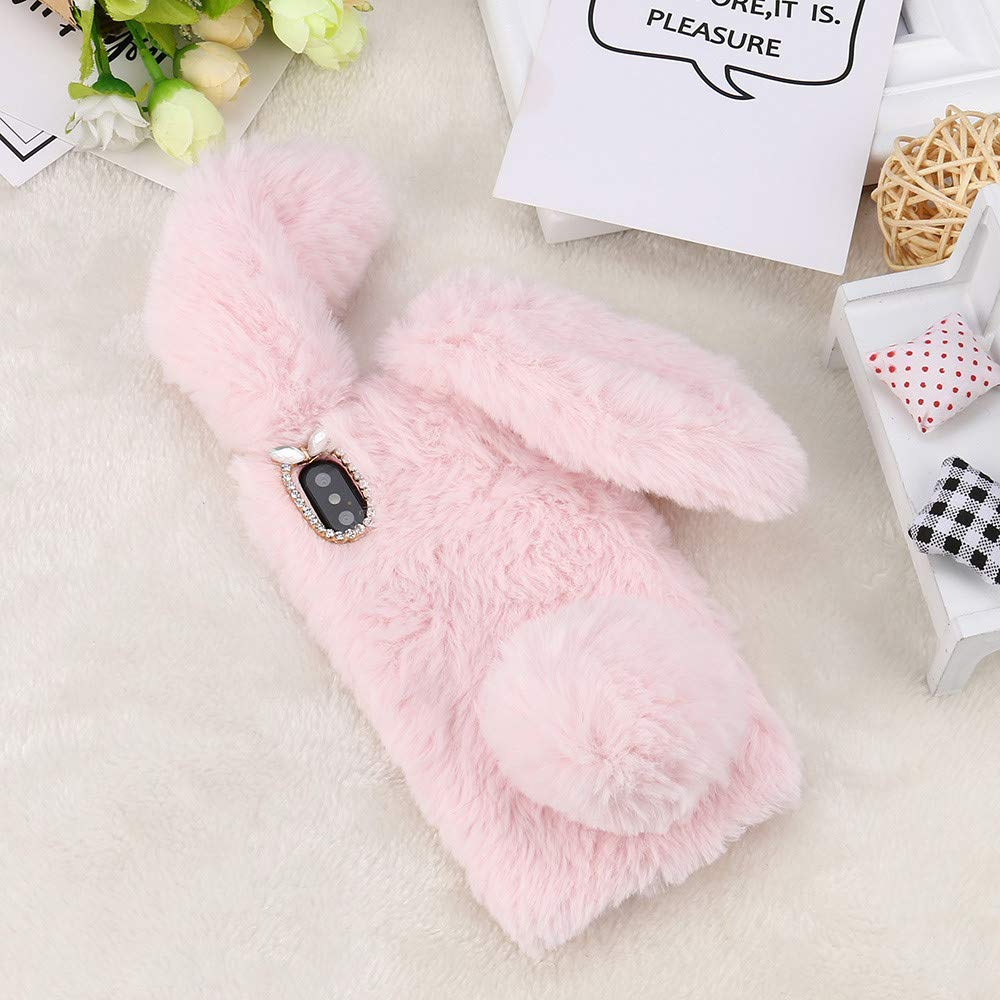 Case for Huawei Y6 2019 Honor 8A 8C Y7 2019 Case Plush Bunny Rabbit - Բջջային հեռախոսի պարագաներ և պահեստամասեր - Լուսանկար 6