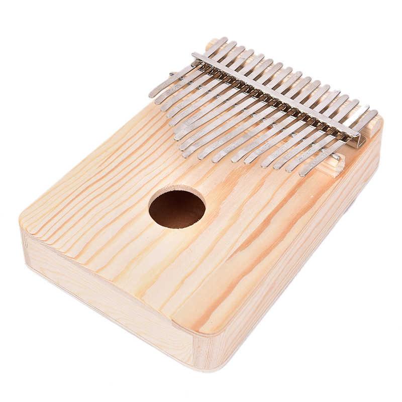 Drewniane instrumenty muzyczne 17 klucz Kalimba afryki litego sosny mahoń kciuk palec fortepian Sanza Mbira Calimba grać z gitarą