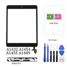 1Pcs For iPad Mini 1 Mini 2 A1432 A1454 A1455 A1489 A1490 A1491 Touch Screen Digitizer Sensor+IC Chip Connector Flex+Key Button(China)