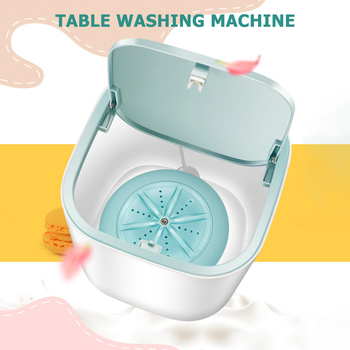 Mini Automatic Washing Machine Household Dehydrated Ultrasonic Turbine Laundry Wash Dry Underwear Care Cleaner 1