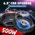 2 pçs 6.5 Polegada 500 w 3 vias carro coaxial alto-falante e subwoofers porta do veículo auto áudio música estéreo alto-falante chifre alto falantes de alta fidelidade