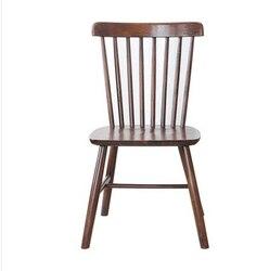 Nórdicos de madera maciza Silla de comedor silla windsor Silla de comedor de café madera completamente maciza silla taburete silla moderno minimalista