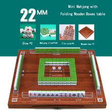 Table-Game Mahjong Majiang-Set Wooden-Boxes Travel Mini Hot Indoor Entertainment Folding