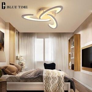 Image 5 - Modern Led Ceiling Light Black White Frame Home Ceiling Lamp for Living room Dining room Kitchen Bedroom Lamp Lighting Fixtures