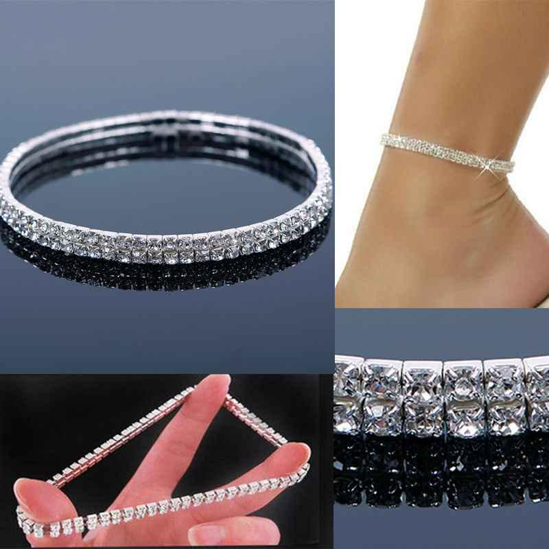 Rhinestone Anklets Punk Style Shiny Diamond Foot Chains Ethnic Ankle Chain